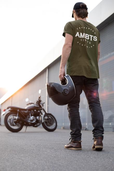 AMBTS Branded Trademark - Short-Sleeve Shirt - White Print