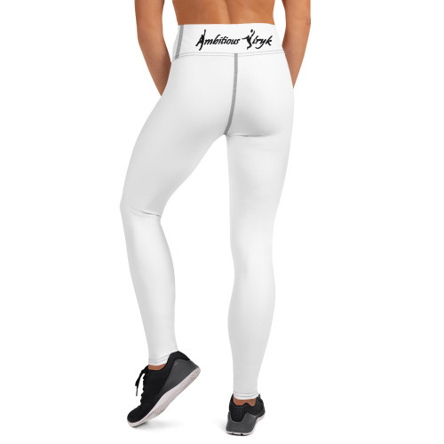 Ambitious Stryk White Yoga Leggings - White Print