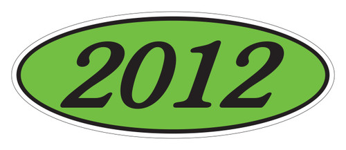 Oval Sticker Black on Green 2012