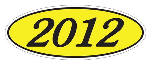 Oval Sticker Black on Yellow 2012