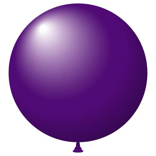 "17"" Crystal Latex Balloons Purple"