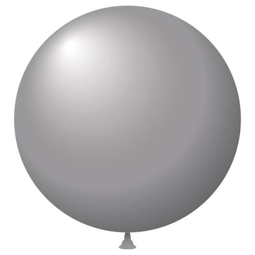 """17"""" Metaltone Latex Balloons Silver"""