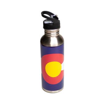 SSB63410: CO Flag SS Water Bottle