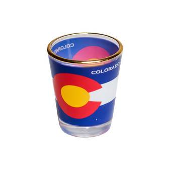 SG63410-Colorado Flag Shot Glass
