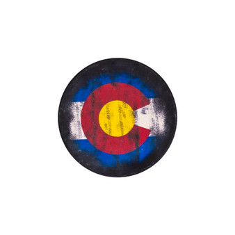 CARC-DC0689: CO Tattered Flag No Drop Coaster