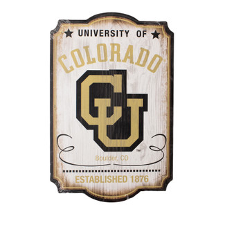 "04055118: CU Vintage Collegiate Wood Sign 11""x17"""