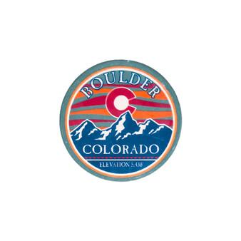 CARC-CC0124: Color Wave Sky & CO Flag Coaster