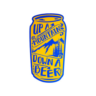 Up a Mountain, Down a Beer STICKER