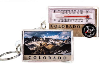 1TN13118: Colorado Hiker Thermometer Keychain