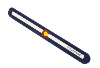 SLB63410-Colorado Flag Slap Bracelet