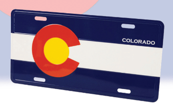 LCP63410: CO Flag License Plate