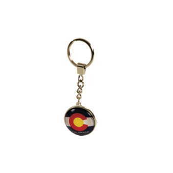 PDKC63410-Co Flag Dome Keychain