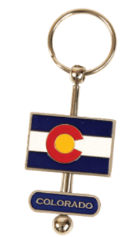 SPK63410-CO Flag Spinner Keychain