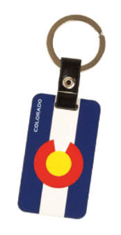 SKC63410: Colorado Flag Wood Look Keychain