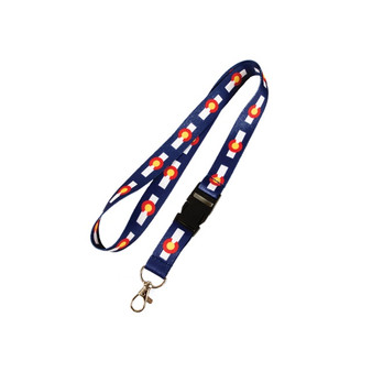 LNYD63410-Colorado Flag Lanyard