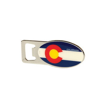 MOO63410-Colorado Flag Magnet Bottle Opener