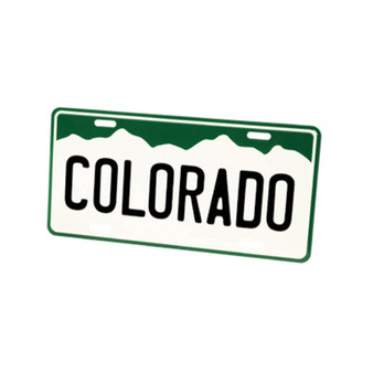 LCP6717: CO License Plate