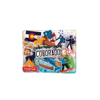 2AD79289-Colorado Pop Art 2x3 Acrylic 3D magnet