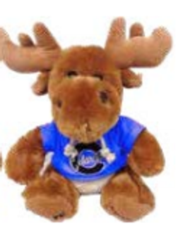 PLUS008: Hoodie Moose Plush