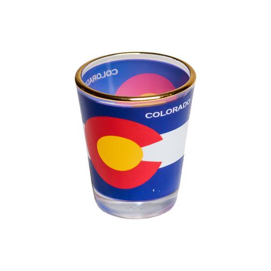 63410-SG-Colorado Flag Shot Glass