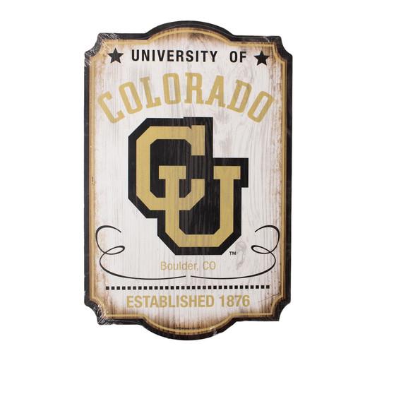 "04055118: CU Vintage Collegiate Wood Sign 11""x17"""