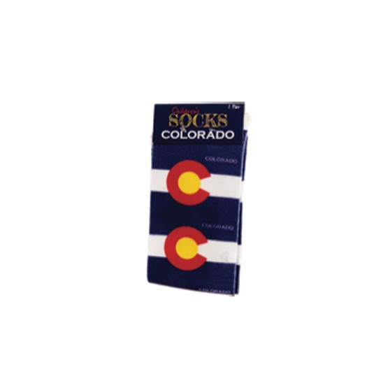CSCK63410-Colorado Flag Crew Sock