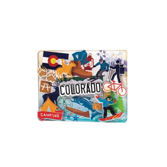 2AD79289-Colorado Pop Art 2x3 Acrylic 3D magnet