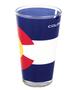 GLS63410: Co Flag 16oz Pint Glass