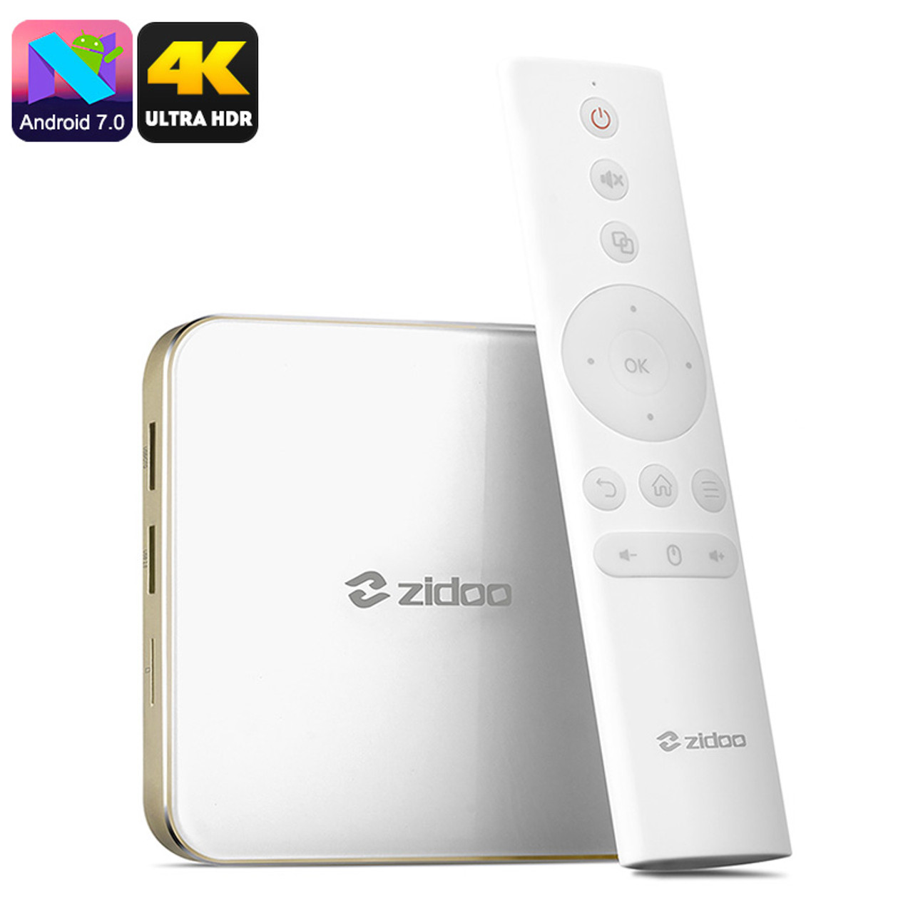 Zidoo H6 Pro Android TV Box - Android 7.0 OS, 2GB DDR4 RAM, Quad Core CPU,  4K, HDR, 10Bit Color - ZoneMerchandise