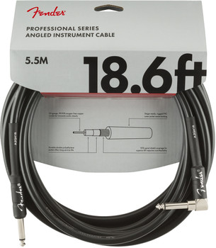 Fender 0990820019 Professional Series Instrument Cable, Straight/Angle, 18.6', Black