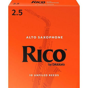 Rico RJA1025 Alto Saxophone Reeds, Box Of 10 Strength 2.5