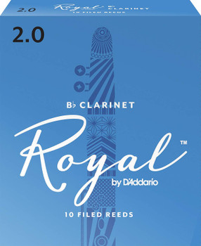 Rico RCB1020 Royal Bb Clarinet Reeds, Strength 2.0, 10-pack