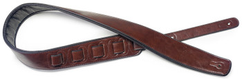 Stagg Padded Leather Style Strap - Brown