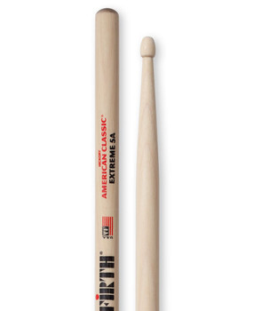 Vic Firth X5A American Classic Extreme Drumsticks, Extreme 5A, Wood Tip