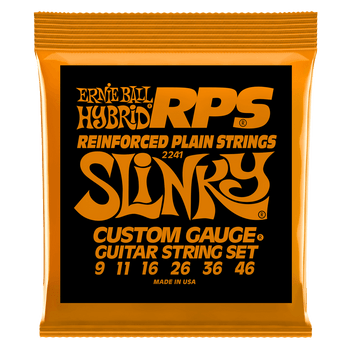 Ernie Ball P02241 Hybrid Slinky RPS Nickel Wound Electric Guitar Strings - 9-46 Gauge