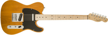 Squier 0310203550 Affinity Series Telecaster, Maple Fingerboard, Butterscotch Blonde