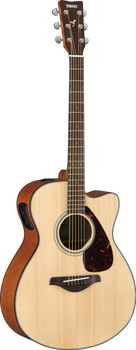 Yamaha FSX800C Small Body Acoustic/Electric Solid Top Guitar, Natural