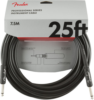 Fender 0990820016 Professional Series Instrument Cable, Straight/Straight, 25', Black