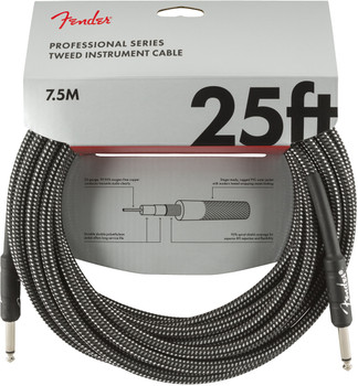 Fender 0990820071 Professional Series Instrument Cable, 25', Gray Tweed