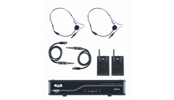 CAD Audio GXLUBBK UHF Wireless Dual Bodypack Microphone System, K Frequency Band