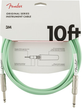 Fender 0990510058 Original Series Instrument Cable, 10', Surf Green
