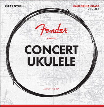Fender 0730090403 Concert Ukulele Strings, Set of Four