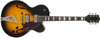 Gretsch 2804700537 G2420 Streamliner Hollow Body with Chromatic II, Laurel Fingerboard, Broad'Tron Pickups, Aged Brooklyn Burst