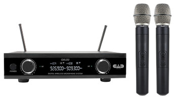 CAD Audio GXLD2HHAH Digital Wireless Dual Handheld Microphone System, AH Frequency Band