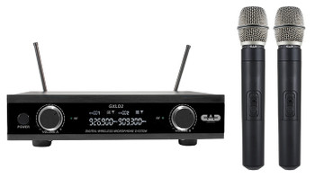 CAD Audio GXLD2HHAI Digital Wireless Dual Handheld Microphone System, AI Frequency Band