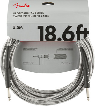 Fender 0990820069 Professional Series Instrument Cable, 18.6', White Tweed