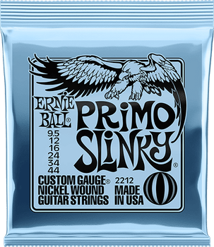 Ernie Ball P02212 Primo Slinky Nickel Wound Electric Guitar Strings, 9.5-44 Gauge