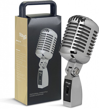 Stagg SDM100CR Dynamic Vintage 50's Style Vocal Instrument Microphone - Chrome