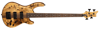 Dean E4 SEL BRL Edge Select 4-String Electric Bass Guitar, Burled Poplar Natural Satin