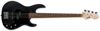 ESP LTD LAP204BLKS 4-String Bass Guitar, Black Satin